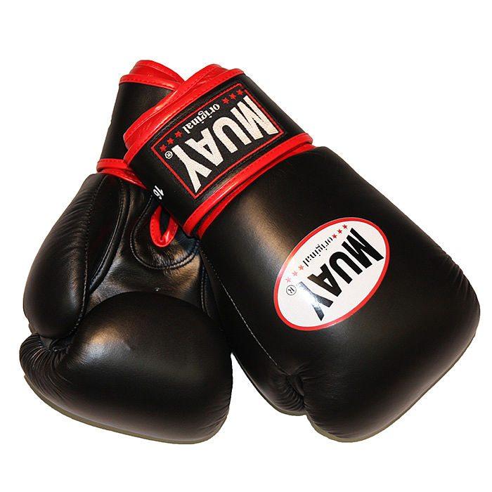 Muay Kick-Muay Bokshandschoenen Zwartbokshandschoen