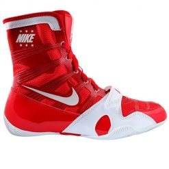nike hyperko boksschoenen rood-wit