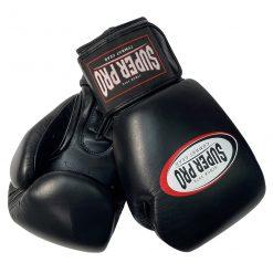 Super pro bokshandschoenen zwart